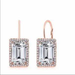 Jewelry - Swarovski crystal & rose gold earrings